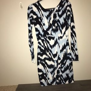 NWT Blue Multicolor Long Sleeve Dress